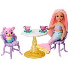 Mattel Barbie(TM) Dreamtopia Mermaid Playground Dolls and Playset , Barbie Playsets, Barbie Toys, Barbies Dolls, Ri Happy, Mermaid Barbie, Accessoires Barbie, Swing And Slide, Chelsea Doll, Girl Hair Colors