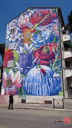 "by Liqen / new mural ""El Devenir"" / for Sanba Festival in San Basilio, Sicily - 01.06.2014"