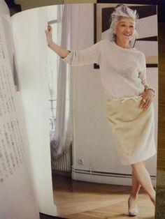 島田順子 Summer Office Outfits, Chic Over 50, Chic Outfits, Fashion Outfits, Sixties Fashion, Mature Fashion, Advanced Style, Love Her Style, Fashion Stylist