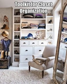 Toolkit to organize your closet quickly and efficiently #closets #closetorganization #organizing