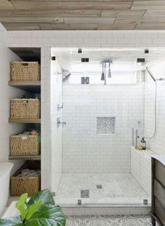 Beautiful bathroom remodel and complete transformation to this dream bath! Urban farmhouse master bathroom makeover with Delta Faucet. After months in the making, today I am finally sharing my urban farmhouse master bathroom Bathroom Renos, Bathroom Renovations, Home Remodeling, Paint Bathroom, Bathroom Shelves, Bathroom Storage, Bathroom Closet, Bathroom Makeovers, Modern Bathrooms