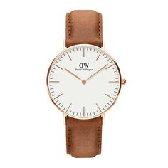 BuyDaniel Wellington DW00100111 Women's Classic Durham Leather Strap Watch, Tan/Gold Online at johnlewis.com