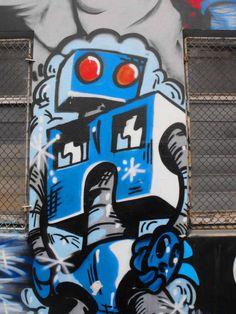 Fitzroy Laneways - robot #graffiti
