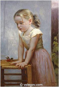 LAURE, commissioned portrait, [Williams Bouguereau inspiration] by Vladimir Volegov