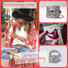 Silver rings Handmade boho style Boho Style, Boho Chic, Silver Rings Handmade, Boho Fashion, Bohemian Fashion, Boho Outfits