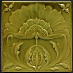 "Collectable Tiles Style/technique: Art Nouveau majolica Mnufacturer: Malkin Pattern number: 3183A Dimensions : 6"" x 6"" Date: circa 1905 Victorian Tiles, Victorian Era, Azulejos Art Nouveau, Art Tiles, Art Deco Pattern, Art Nouveau Design, Seeking God, Victorian Steampunk, Fireplace Design"
