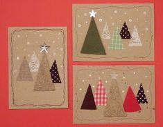 Löysin korttien joukosta muutaman vanhan kortin... Luulen, että tänä viikonloppuna useampi askartelee kortteja... Tässäpä olisi yksi idea ni... Christmas Card Crafts, Homemade Christmas Cards, Handmade Christmas Decorations, Christmas Cards To Make, Christmas Mood, Noel Christmas, Christmas Activities, Xmas Cards, Christmas Projects