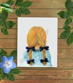 Little Girl Hairstyle print, Girls wall decor, Girls Room Art, Toddler Girl Art, Girl nursery Art, Girls room decor, Baby Girl Nursery Art