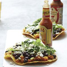 """Butternut Squash & Black Bean Tostadas 