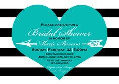 Tiffany Blue Heart Bridal Shower Invitation by BurlapAndBeauty