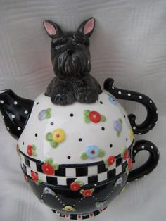 mary engelbreit scottie teapot