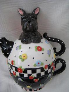 mary engelbreit scottie teapot