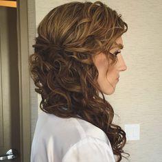 side curls ponytail hairstyle hair bride bridal wedding upstyle updo hairdresser upstate new york saratoga springs lake george