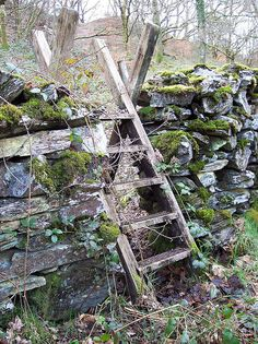 Stone Wall Fence With Stile Country Life, Country Living, Stone Fence, Dry Stone, Fence Gate, Fencing, Paludarium, Cottage, Exterior