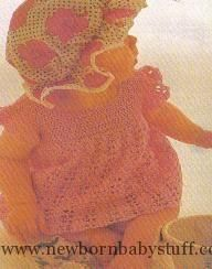 Crochet Baby Dress free crochet baby dress pattern plus lots of other great fre...