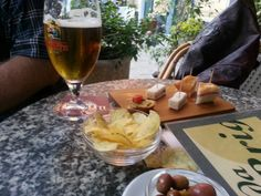 Nibbles with drinks Levanto Italy.