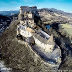 Árva castle (Oravsky hrad) is situated in the Carpathian mountains, it is located in the Upper lands/Horná zem/Felvidék, now it is in Slovakia Bratislava, Fantasy Castle, Backpacking Europe, Abandoned Castles, Ancient Ruins, Medieval Castle, Tower Bridge, Cool Places To Visit, Wonders Of The World