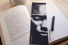 Marque-pages - Nina simone - Portrait chanteuse jazz, musique - expression - noir et blanc - idée cadeau de la boutique ManonBianconiArt sur Etsy