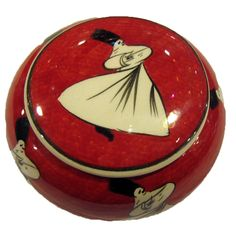 WHIRLING DERVISH JEWELRY BOX, RED