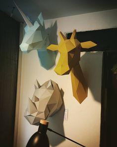 #assembli in stock now!!! Giraffe licorne rhino! #cantikbordeaux #paper #trophy #bordeaux #bordeauxmaville by cantikbordeaux