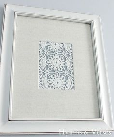 DIY Vintage doily art for an amazing gallery wall