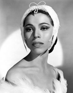 Ballerina Maria Tallchief as Odette in Swan Lake