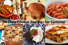 Slow Cooker Recipes for Summer: Keep the kitchen cool this summer, with 30 great recipes for dinner, dessert or your next potluck. #slowcookerrecipes