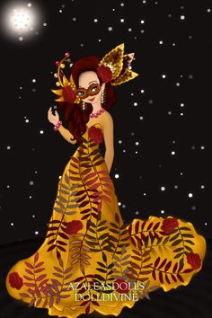 Autumn Masquerade! ~ by pigobest ~ created using the Pixie doll maker | DollDivine.com