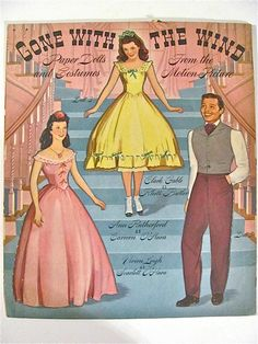 Gone With The Wind Paper Dolls Vintage 1940* 1500 free paper dolls The International Paper Doll Society Arielle Gabriel artist #QuanYin5 Twitter, Linked In QuanYin5 *