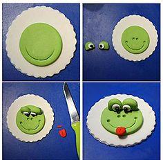 Frog cupcake topper