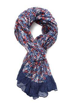 Polka Dot Floral Scarf | FOREVER21 - 1000068559