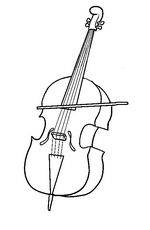 kleurplaat Cello