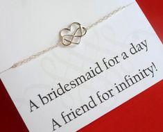 Sterling Silver Heart Infinity Bracelet von GlittersGiftShop
