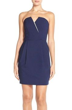 Adelyn Rae Strapless Crepe Sheath Dress / @nordstrom