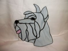 Stained Glass Schnauzer Suncatcher | eBay