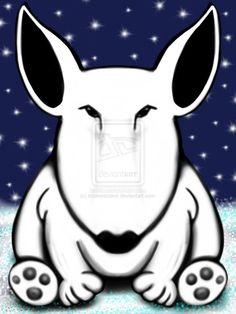 Christmas English Bull Terrier by sookiesooker.deviantart.com on @deviantART