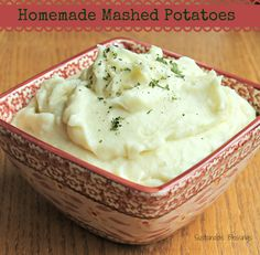 Sustainable Blessings: Homemade Mashed Potatoes