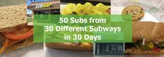 Fred Campos, aka @SubwayFredc, shares his September 2016 Challenge of eating 50 #Subway sandwiches in 30 days from 30 different Subways.  Come join the adventure... (Click Pic for More) via http://SubwayFred.com