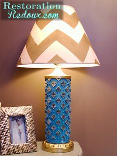 Lamps made from wallpaper rollers http://www.restorationredoux.com/?p=2513