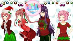 Eh, why not? Didn't think Christmas stuff would spring up so fast, though. #dokidokiliteratureclub