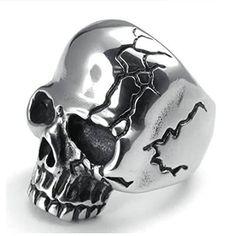 Stainless Steel Classic Skull Ring