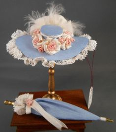 Dollhouse Miniature 1 Scale Silk Hat and by TinyThreadsbyJudi