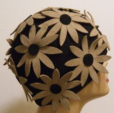 Going to a 20s Mystery party. Wish I had something like this.  Vintage 1920s Flapper Floral Womens Cloche Hat. $250.00, via Etsy.