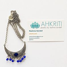 """Ahkriti in Sanskrit means """"a beautiful form"""". I started out designing jewelry keeping my heritage but I've branched out to the more dated Style of jewelry now. As you can see I love and hence the blue is my logo by ahkriti Blue Lotus, Indian Heritage, Names With Meaning, Sanskrit, Bohemian Style, Indiana, Crochet Necklace, Logo, Beautiful"""