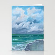 Clouds and Clouds Seascape Stationery Cards by Rosie Brown - $12.00 for pack of 3 #cards #stationery #beach #seascape #letter #writing #society6