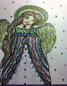 Angel Mixed Media Art