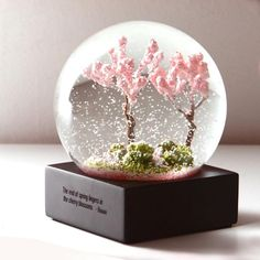 Four Season Crystal Ball Glass Water Snow Globe – I sell what I love End Of Spring, Christmas Gift Box, Christmas Snow Globes, Diy Snow Globe, Christmas Balls, Water Globes, Kawaii, Crystal Ball, Glass Crystal