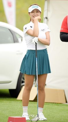Sexy Golf, Golf Player, My Yoga, Beauty Photography, Sexy Dresses, Cheer Skirts, Lady, Korean, Women Golf