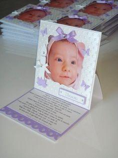 Queste sono delle cards di ringraziemtno realizzate per il Battesimo di Eleonora...    Visione d'insieme...         ... chiusa...       ......