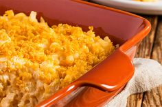 Frozen hash browns make this Easy Potato Bake easy. Cream of chicken soup, Cheddar cheese and a crushed corn flake topping make it delicious.